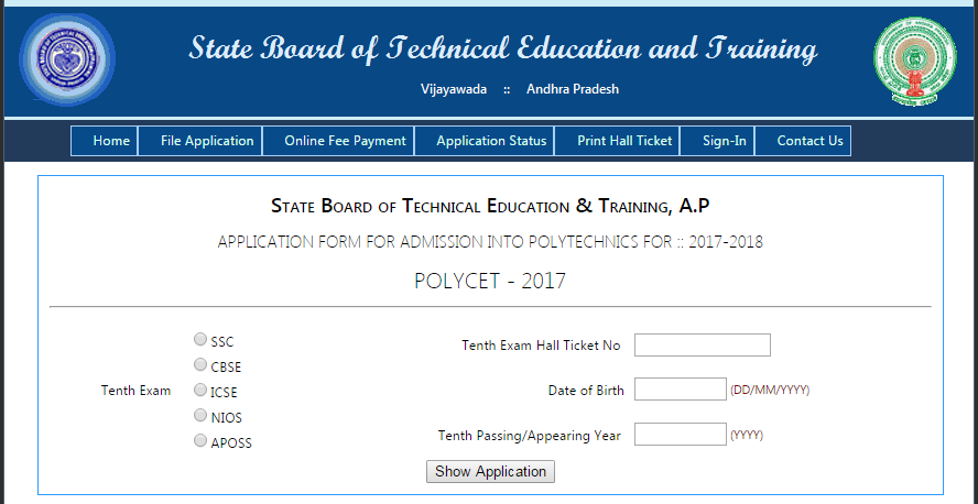 AP POLYCET Application